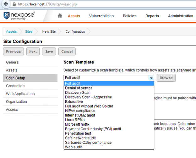 Vulnerability assessment with nexpose infosec institute for Nexpose scan templates