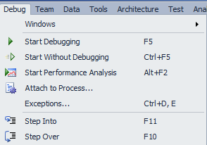 Figure 1.1 Start Debugging