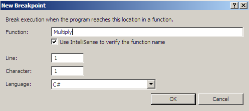 Figure 1.9 New Breakpoints (function)