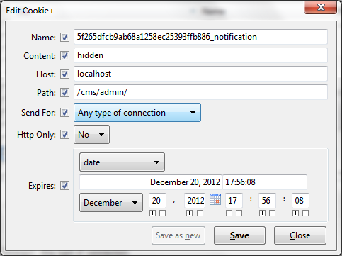 Figure 1. Viewing the cookie data