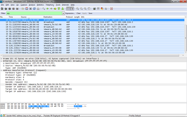 Figure 4. ARP packet analysis (Click to Enlarge)